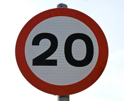20mph speed limit sign - image from 20splentyforus.org.uk