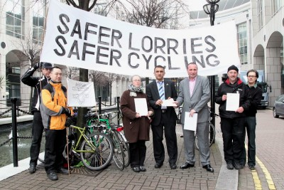 LBTH urged to support Safer Lorries, Safer Cycling. Photo Chas, pressmen.co.uk