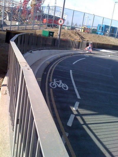 Crap Cycle Lanes: Westfield Honoured!